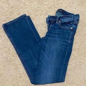 Express low rise boot cut jeans